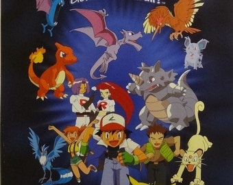 Pokemon 16x20 Team Rocket & Creatures Poster Nintendo