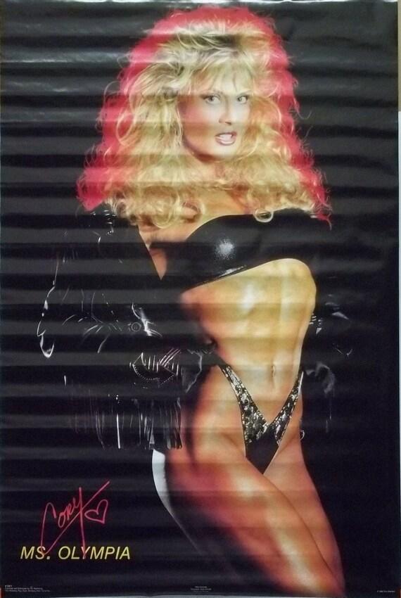 Cory Everson 23 x 35 Miss Olympia cuero negro cartel 1989 | Etsy