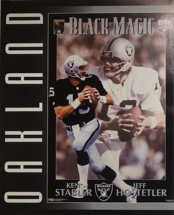 Oakland Raiders 16x20 Ken Stabler Jeff Hostetler NFL Poster  541a16a26a4af