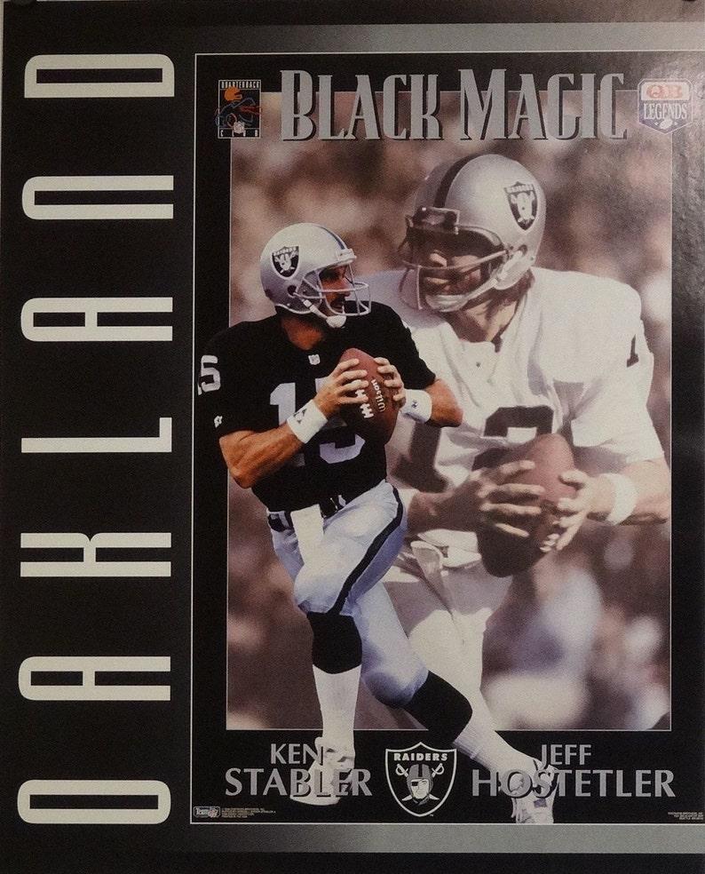 e1d05b550 Oakland Raiders 16x20 Ken Stabler Jeff Hostetler NFL Poster | Etsy