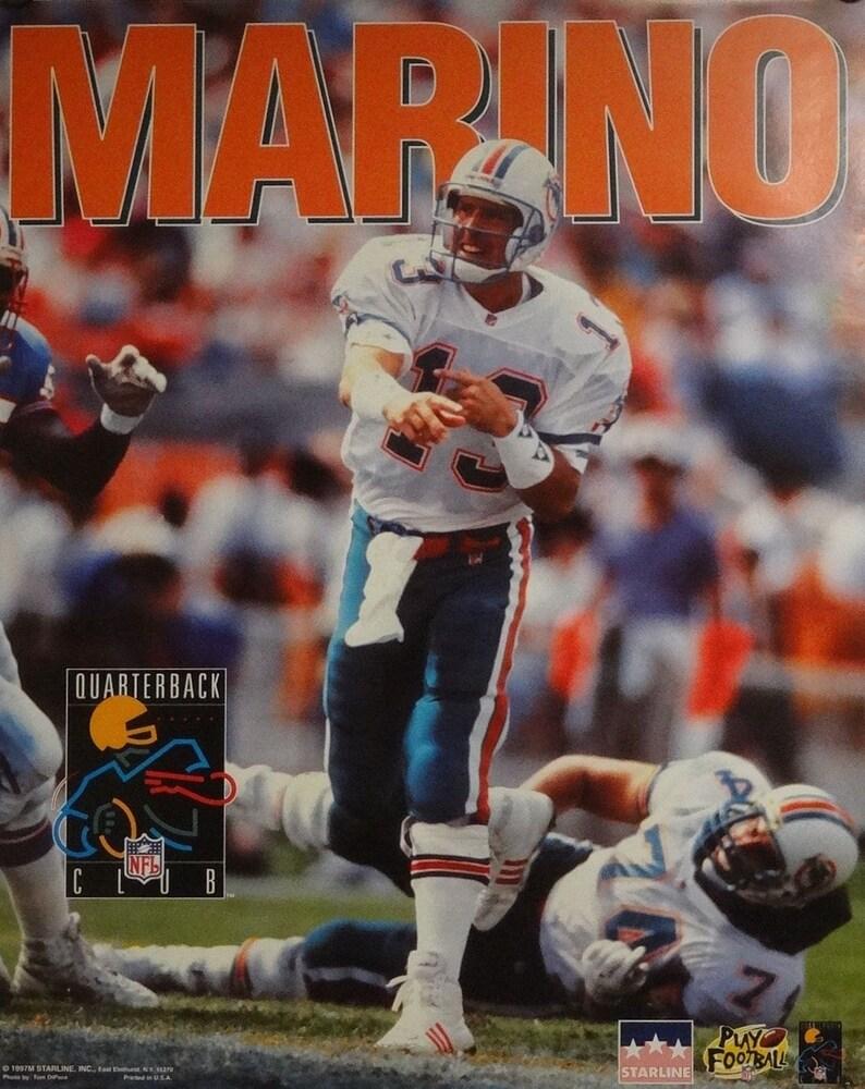 1ed8e7377 Miami Dolphins 16x20 Dan Marino Quarterback Club NFL Poster | Etsy