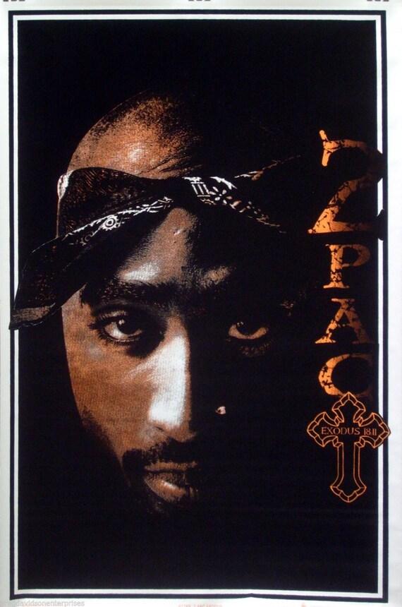 Tupac Shakur Éxodo 23 x 35 Blacklight carteles 1997 2Pac por | Etsy