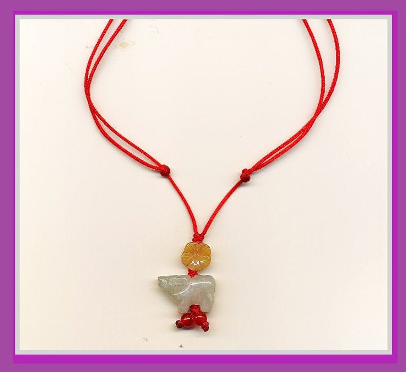 Jade Optimal Ox Lucky Necklace image 0