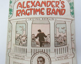 Vintage 1938 Alexander's Ragtime Band Sheet Music