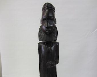 Hand Carved Solid Ebony Male African Fertility Idol