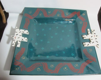 Vintage Art Pottery Platter by Page Thorbeck 1986