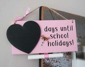 Teacher holiday countdown plaque