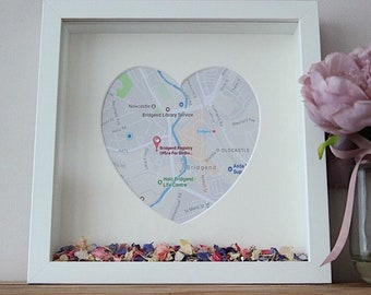 Wedding/engagement/first date location map