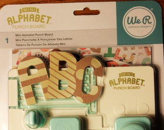 Punch Board Alphabet Punch Board We R Memory Keepers Mini Alphabet Punch Board New In Original Package With Instruction Book