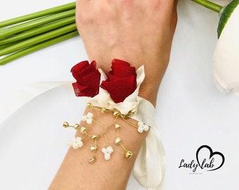 Vintage Handmade Wristlet Cuff Corsage TuTu Bracelet Circus Dancer Theme for Prom