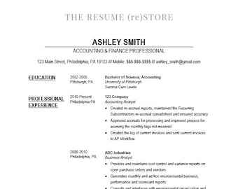 Easy Resume Template Digital Download Etsy