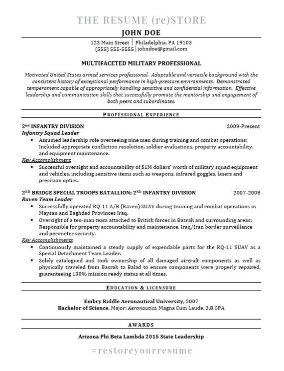 professional resume template digital download