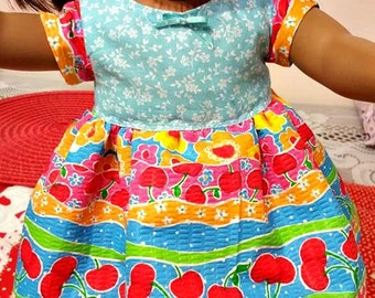 Fruit and Flowers DOLL  Dress fits American Girl