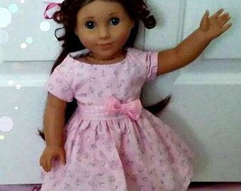 Pretty in Pink Doll Dress fits American Girl