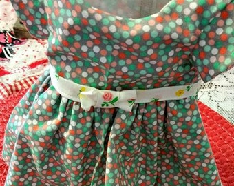 Pretty Polka Dots Doll Dress fits American Girl