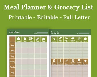 Meal Planner & Grocery List