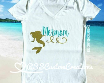 Mermom Shirt, Mother of a Mermaid, Mother of Mermaids, Mermaid Birthday Mom, Birthday Mom Shirt, Mermama Shirt, Mom of the Birthday Girl