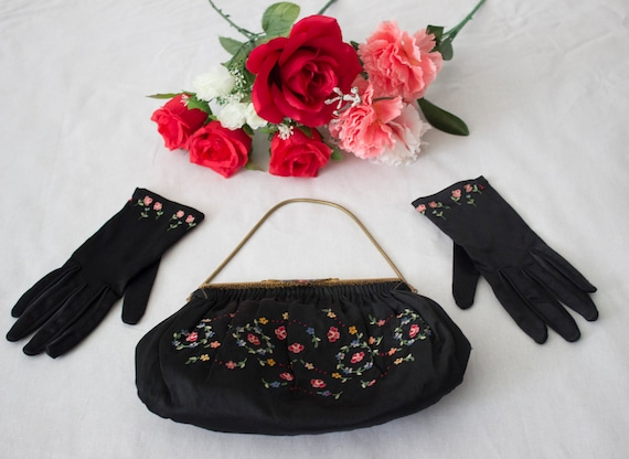 1950s Purse and Gloves Set