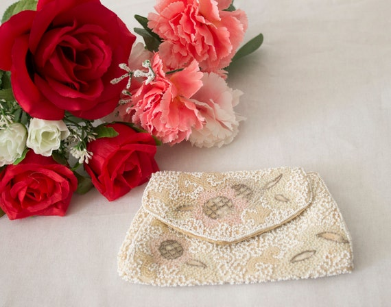 1930s Longchamps Beaded Floral Purse