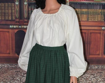 Renaissance costume, Pirate Shirt, Wench costume, Barmaid Outfit, Medieval Undergarments, Cotton Blouse Chemise-Color Choice-Made to Order