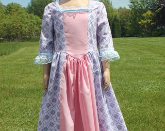 Girl's Colonial Dress Size 6 Old-Fashioned Frock Felicity American History 1800s Clothing ~ Clearance for DEFECTS ~ Ships Now!