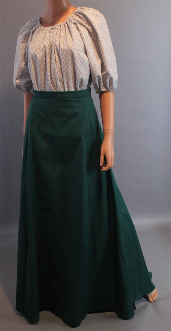 Victorian Skirts | Bustle, Walking, Edwardian Skirts Victorian Skirt A-line Skirt Anne of Green Gables Steampunk Industrial Costume Walking Skirt - Made to Fit You - Choose Color $64.00 AT vintagedancer.com