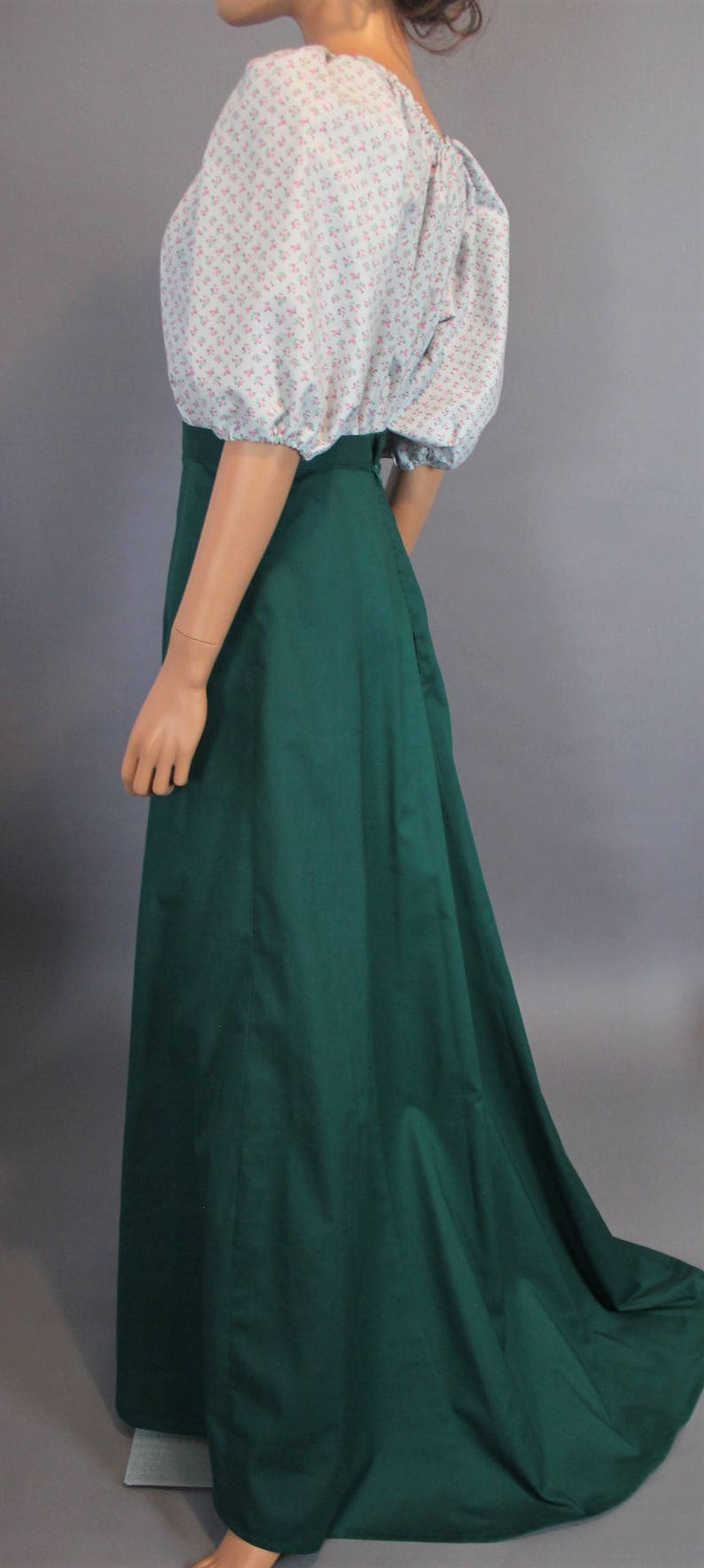 Victorian Skirts | Bustle, Walking, Edwardian Skirts Custom Walking Skirt with Train for Edwardian Costume ~ Agnes $208.00 AT vintagedancer.com