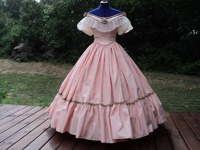 Civil War Ball Gown Custom Orders Victorian Ballroom Wedding | Etsy