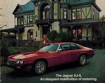 1979 JAGUAR XJ-S Luxury Car VINTAGE AD Eloquent Redefinition of Motoring