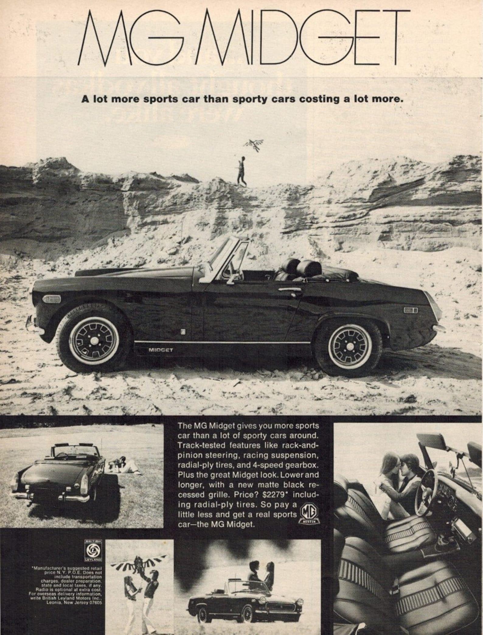 MG Midgets: Classic car, classic ads?