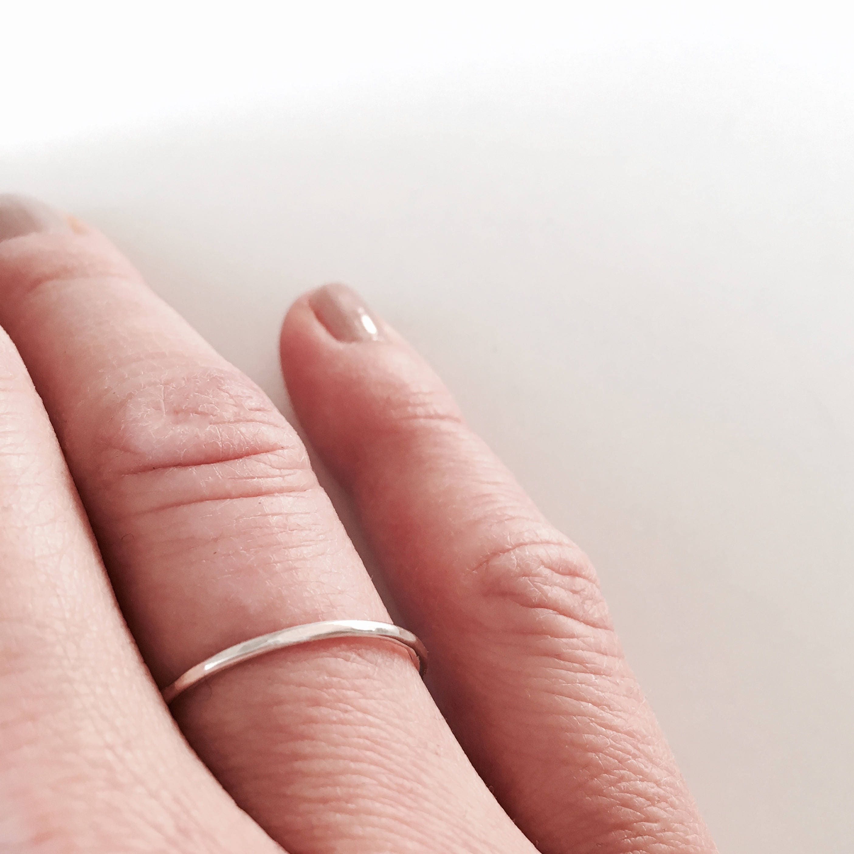 Simple faceted ring Stacking ring Minimalist and delicate | Etsy