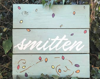 Fall Smitten Rustic Pallet Sign