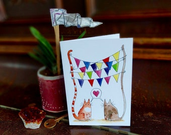 Catty Celebration Greeting Card