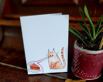 Laser Eyes on the Pie Greeting Card