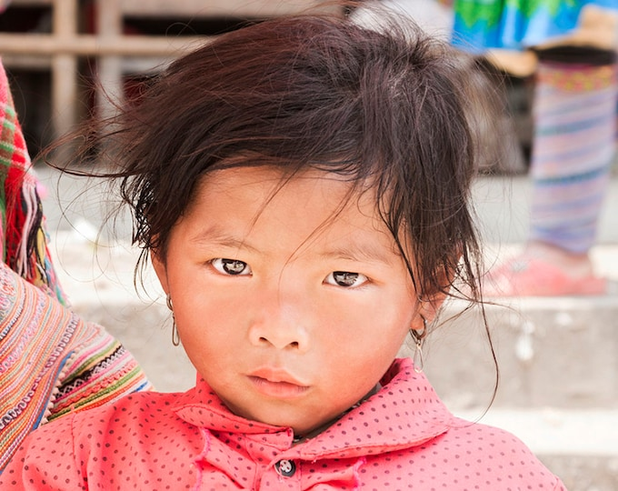 TRIBE GIRL. Vietnam Print, Vietnamese Girl, Travel Photography, Child Portrait,Photographic Print