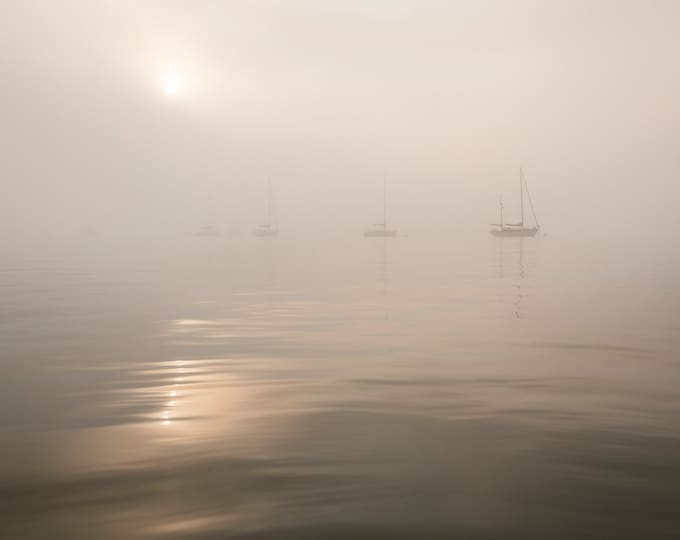 FOGGY SAILING BOATS Print