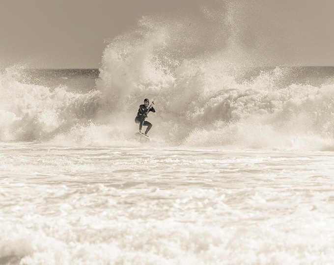 WHITEWATER RUSH. Kitesurfing Print, watersports Picture, Tarifa Print, Surfing Print,Photographic Print