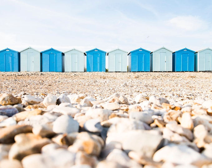 COLOUR BEACH HUTS Print