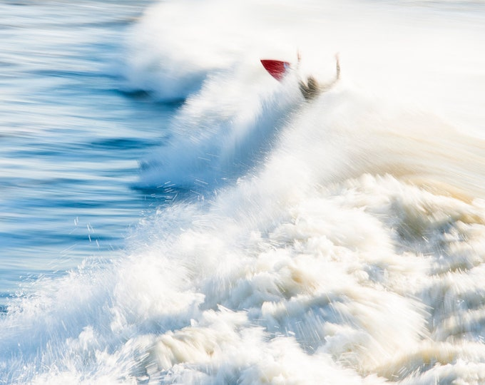 THE RED SURFER, Surfing Print, Sports Photography, Waves Print, Limited Edition Print, Breaking Waves, Large Prints