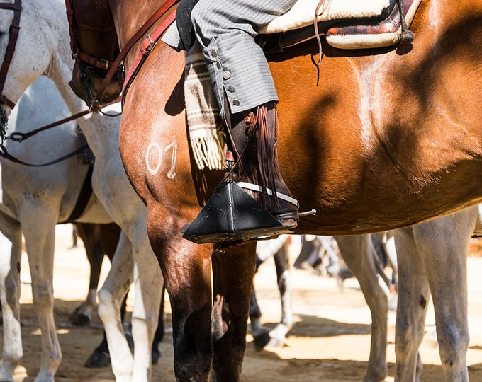 THE BOOTS. Spanish Cowboy, Cowboy Print, Spain Picture, Horse Print, Photographic Print
