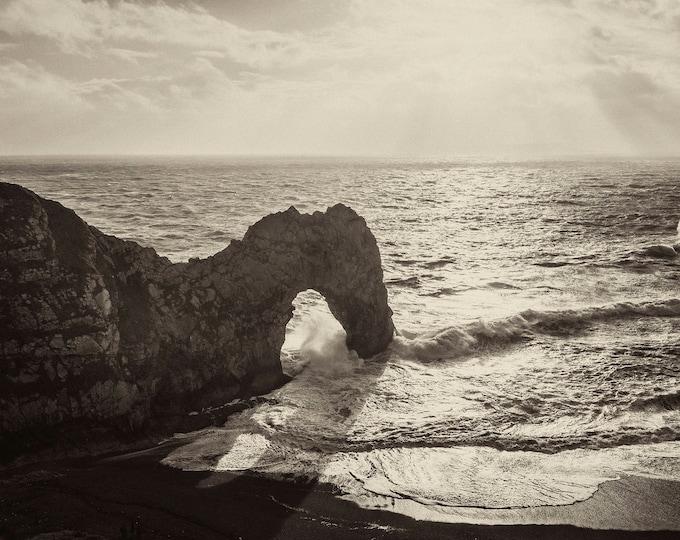 DURDLE DOOR 7. Durdle Door Print, Seascape Print, Dorset Coastline, Panoramic Print, Limited Edition, Giclee Print,