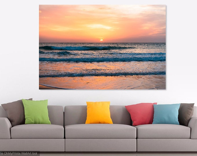 SUNSET EL PALMAR. Seascape print, Sunset print, Spanish Picture, Photographic print, C Type Print