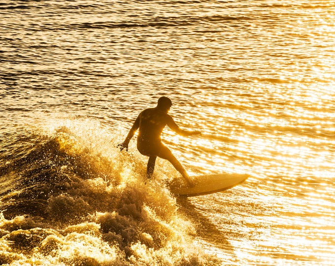 LIQUID GOLD 4. Surfing Print, Photographic Print, Limited Edition Print, Watersport Print