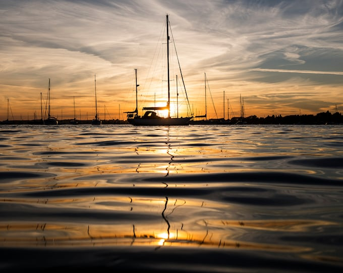 SAILING AT SUNSET Print