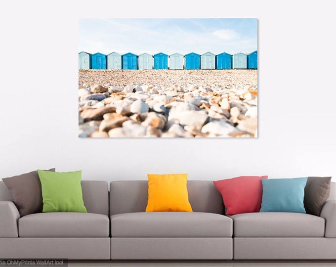 BEACH DECOR, Beach Huts Art