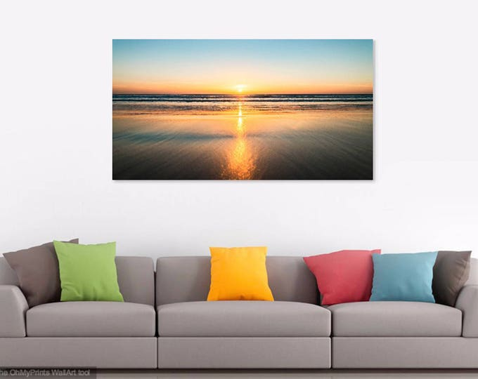 CONIL SUNSET. Seascape Print, Sunset Picture, Spain, Beach Print, Photographic Print.