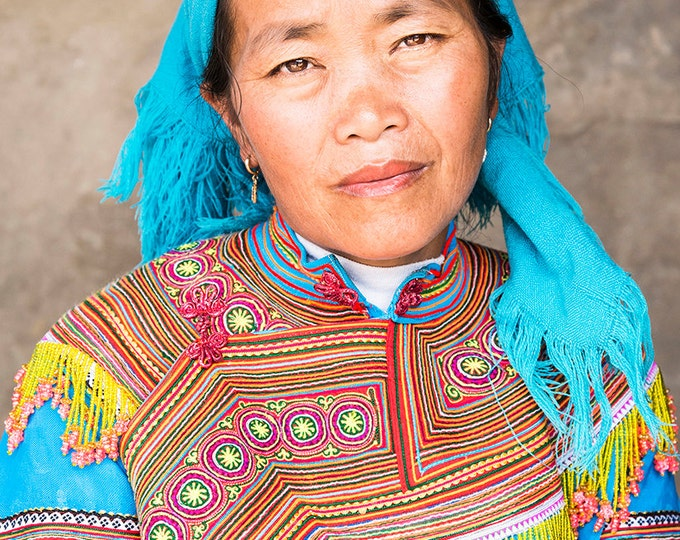 COLOURFUL VIETNAM PORTRAIT Print
