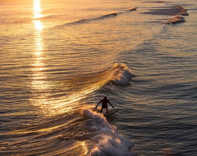 GOLDEN LIGHT SURF Print