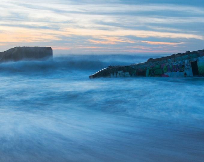 Blue Seascape, Large Art, Seascape Photography, Wall Decor, Blue Wall Art, Coastal Art, Beach Art