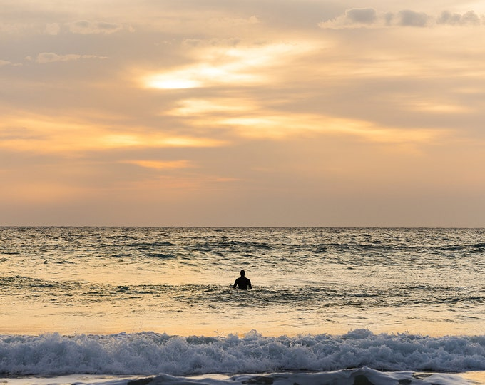 SUNSET SURFING PHOTO Print